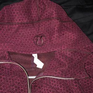 Lululemon athletica scuba hoodie burgundy